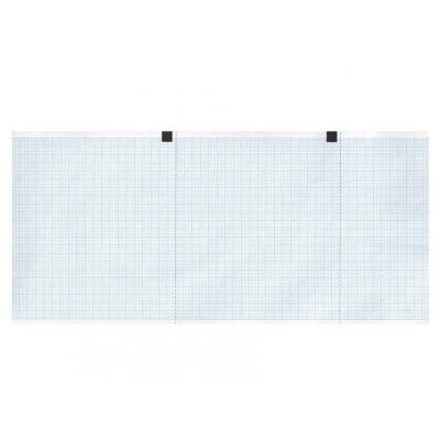 Tepelný papír EKG 120 x 18 mm x m role - modrá mřížka