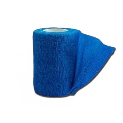 KOHESIVNÍ NEVLHKÉ ELASTICKÉ BANDAGE 4,5 mx 7,5 cm - modré