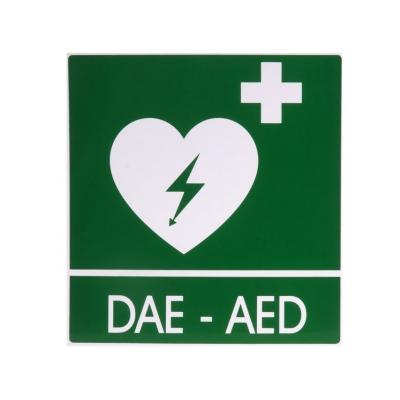 DAE-AED ALUMINIUM SIGN 34x36 cm pro defibrilátory