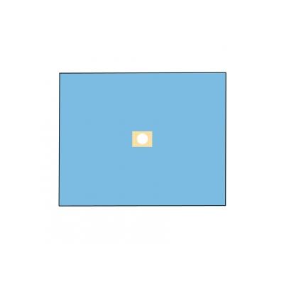 NEKLÁDANÝ BIO-VRSTVOVÝ DRAPE 120x150 cm s otvorem o průměru 10 cm