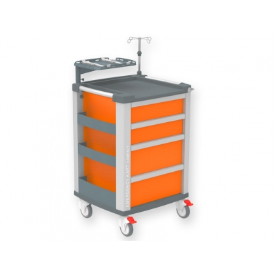 EMERGENCY COMPACT KART - oranžová