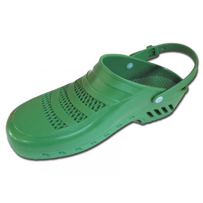 GIMA CLOGS - s póry a řemínky - 47-48 - zelená
