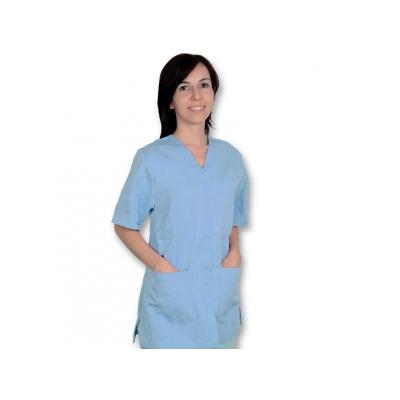 BUNDA S STUDEM - bavlna / polyester - unisex L světle modrá