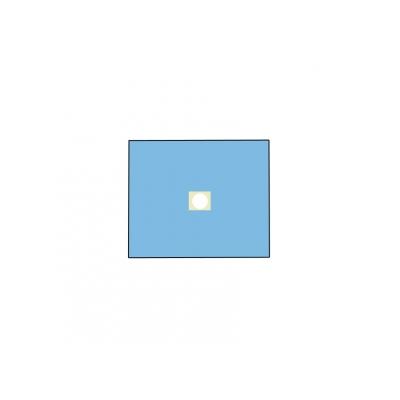 NEVRTENÝ BI-LAYEROVÝ DRAPE 75x90 cm s otvorem o průměru 10 cm