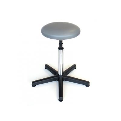 STOOL - čalouněná sedačka s nohou - šedá