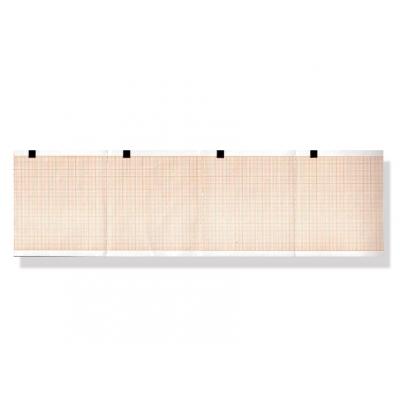 Tepelný papír EKG 80 x 70 mm x 300 s - oranžová mřížka