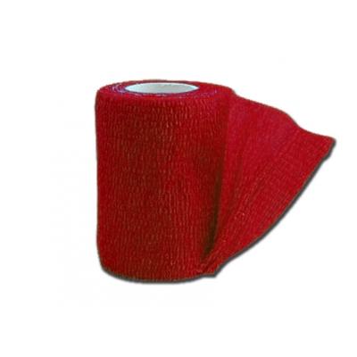 KOHESIVNÍ NEVLHKÉ ELASTICKÉ BANDAGE 4,5 mx 7,5 cm - červené