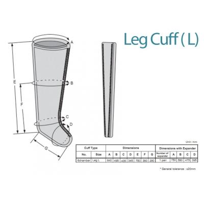 LEG CUFF L - 6 KOMORY - náhradní pro 28441
