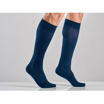 UNISEX COTTON SOCKS - L - silná komprese - modrá