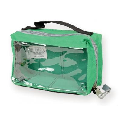 E1 RECTANGULAR POUCH s oknem a rukojetí - zelená