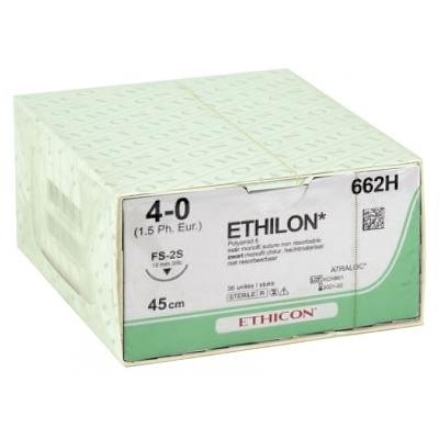 ETHICON ETHILON MONOFILAMENT SUTURES - kalibr 4/0 jehla 19 mm