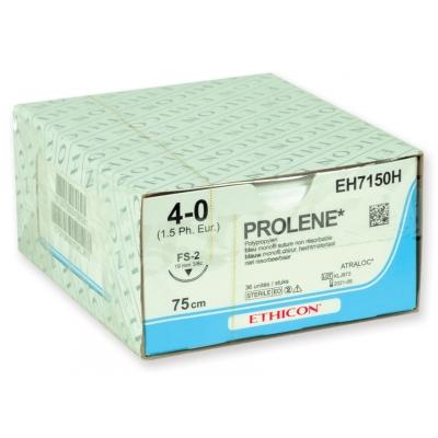 ETHICON PROLENE BLUE MONOFILAMENT SUTURES - měřidlo 4/0 jehla 19 mm šev 45 cm