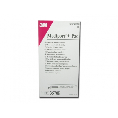 MEDIPORE 3M PAD 10x20 cm