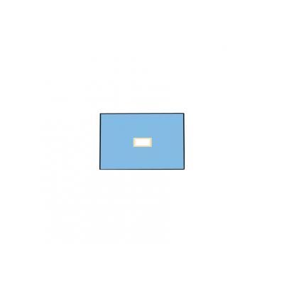 NEVRTENÝ BI-LAYEROVÝ DRAPE 50x75 cm s otvorem 6x9 cm