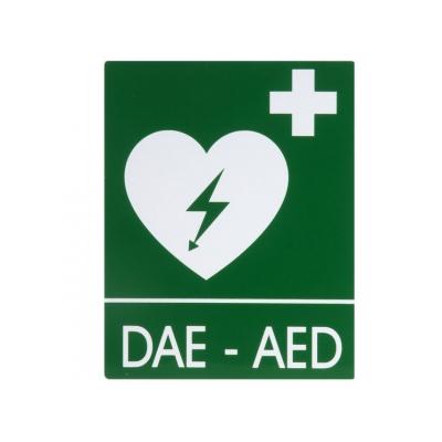 DAE-AED ALUMINIUM SIGN 25x31 cm pro defibrilátory
