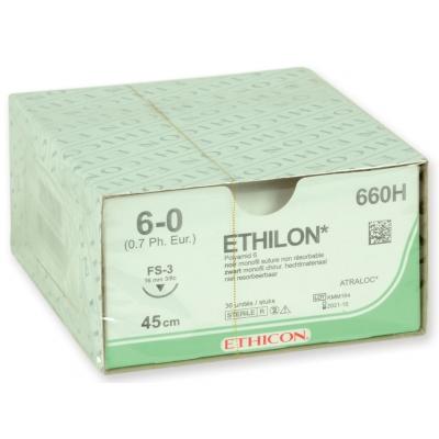 ETHICON ETHILON MONOFILAMENT SUTURES - kalibr 6/0 jehla 16 mm
