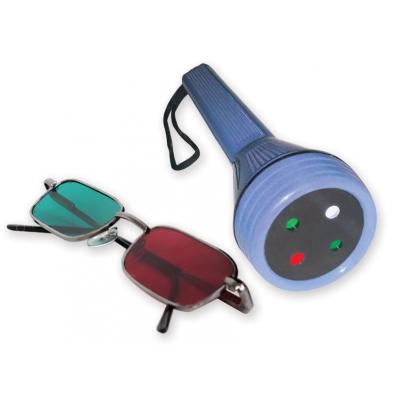 WORTH LED LIGHT TEST s červenými / zelenými brýlemi