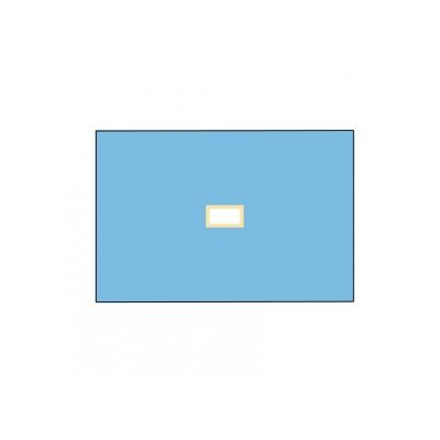 NEVRTENÝ BIO-LAYEROVÝ DRAPE 100x150 cm s otvorem 9x18 cm