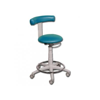STOOL s kroužkem - kovová mořská modrá