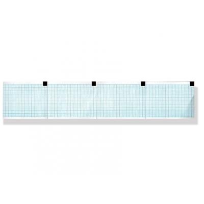Tepelný papír EKG 60 x 75 mm x 250 s - modrá mřížka