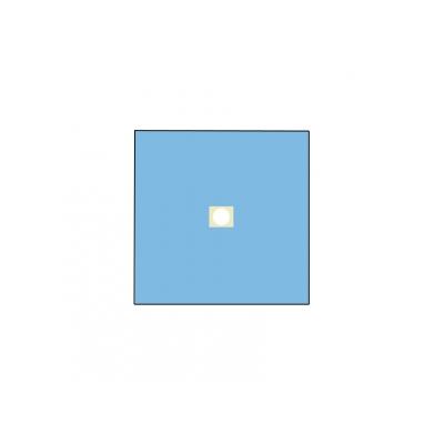 NEVRTENÝ BI-LAYEROVÝ DRAPE 100x100 cm s otvorem o průměru 10 cm