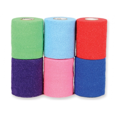 CO-PLUS BANDAGE 6,3 mx 7,5 cm - smíšené barvy