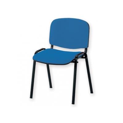 ŽIDLE ISO VISITOR - koženka - modrá
