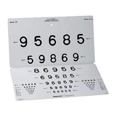 LEA NUMBERS 15-LINE DISTANT CHART - 3 m (10 stop)