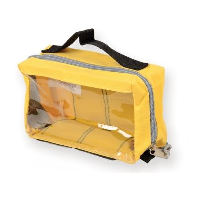 E1 RECTANGULAR POUCH s oknem a rukojetí - žlutá
