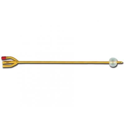 FOLEY 3-WAY LATEX CATHETER ch / fr 18 - koule 30 ml - sterilní