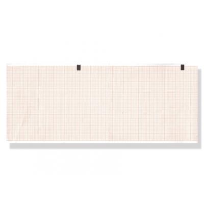 EKG termický papír 108 x 120 mm x 200 s - oranžová mřížka
