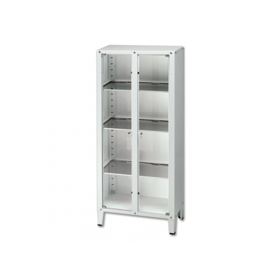 VALUE CABINET - 2 doors - tempered glass