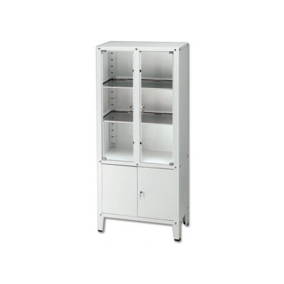 VALUE CABINET - 4 hinged doors - tempered glass