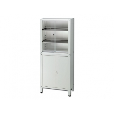 VALUE CABINET - 4 doors - tempered glass