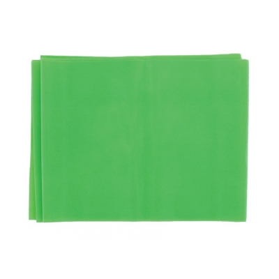 LATEX-FREE EXERCISE BAND 1.5 m x 14 cm x 0.25 mm - green