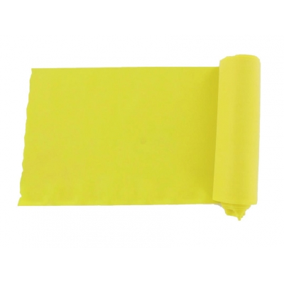 LATEX-FREE EXERCISE BAND 5.5 m x 14 cm x 0.20 mm - yellow