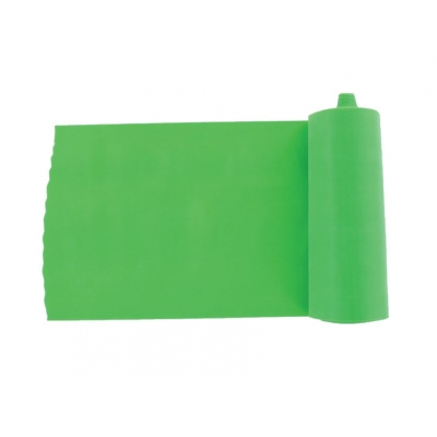 LATEX-FREE EXERCISE BAND 5.5 m x 14 cm x 0.25 mm - green