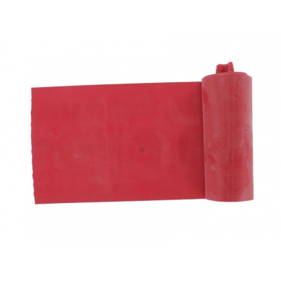 LATEX-FREE EXERCISE BAND 5.5 m x 14 cm x 0.30 mm - red