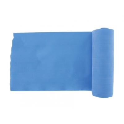 LATEX-FREE EXERCISE BAND 5.5 m x 14 cm x 0.35 mm - blue