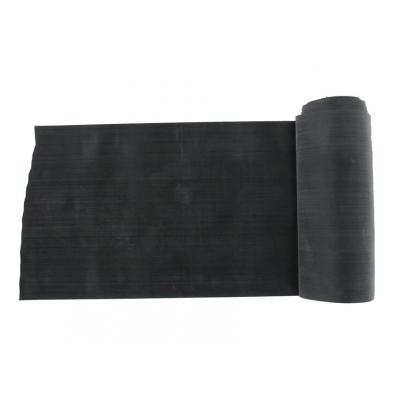 LATEX-FREE EXERCISE BAND 5.5 m x 14 cm x 0.40 mm - black