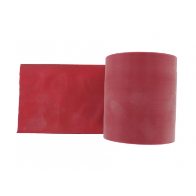 LATEX-FREE EXERCISE BAND 45 m x 14 cm x 0.30 mm - red