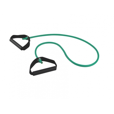LATEX EXERCISE TUBE WITH TPR HANDLES 125 cm x 2.0 mm - light - green