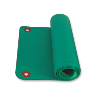 EXERCISE MAT WITH HANG RINGS 180x60xh1.6 cm - green